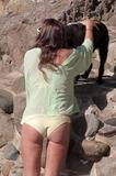 Rachel Uchitel | Bikini Candids on the Beach in Malibu | August 24 | 13 pics