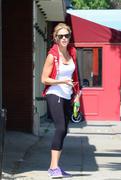 Julie Bowen leaving the gym in Sherman Oaks 08/13/13